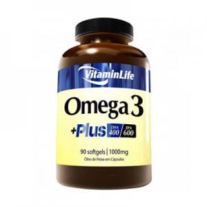 Omega 3 +Plus (óleo de peixe 1000mg) - 90 Softgels (VitaminLife)
