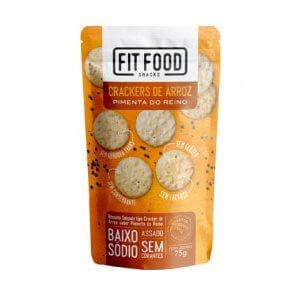 Crackers de Arroz - Sabor Pimenta do Reino 75g (Fit Food)