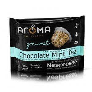 Cápsulas de Chá Chocolate Mint Tea - 10 unidades - Compatíveis com Nespresso (Aroma Selezione)