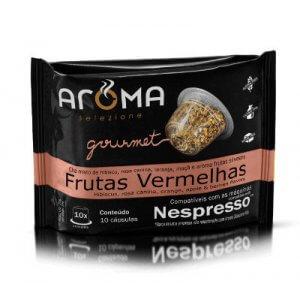 Cápsulas de Chá Frutas Vermelhas - 10 unidades - Compatíveis com Nespresso (Aroma Selezione)