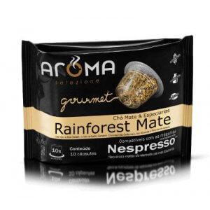 Cápsulas de Chá Rainforest Mate - 10 unidades - Compatíveis com Nespresso (Aroma Selezione)