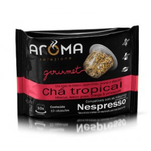 Cápsulas de Chá Tropical - 10 unidades - Compatíveis com Nespresso (Aroma Selezione)