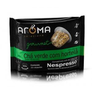 Cápsulas de Chá Verde com Hortelã - 10 unidades - Compatíveis com Nespresso (Aroma Selezione)