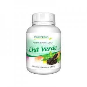 Chá Verde 500mg - 60 Cápsulas (Vital Natus)