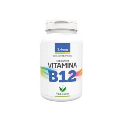 Vitamina B12 - Cobalamina 2,4mcg - 60 Comprimidos (Vital Natus)