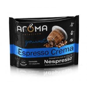 Cápsulas de Café Espresso Crema - 10 unidades - Compatíveis com Nespresso (Aroma Selezione)