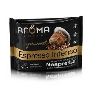 Cápsulas de Café Espresso Intenso - 10 unidades - Compatíveis com Nespresso (Aroma Selezione)