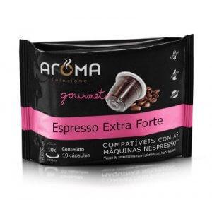 Cápsulas de Café Espresso Extra Forte - 10 unidades - Compatíveis com Nespresso (Aroma Selezione)