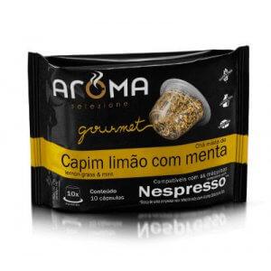 Cápsulas de Chá Capim-Limão com Menta - 10 unidades - Compatíveis com Nespresso (Aroma Selezione)