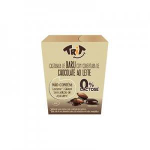 Castanha de Baru com cobertura de chocolate ao leite 0% Lactose 40g (Trit)
