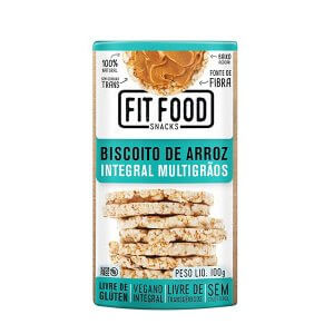 Biscoito de Arroz Integral - Multigrãos 100g (Fit Food)