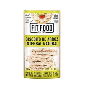 Biscoito de Arroz Integral - Natural 100g (Fit Food)