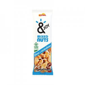 Barra de Mixed Nuts Coco e Amêndoas 30g (&Joy - Agtal)