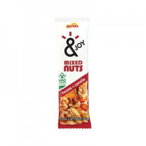 Barra de Mixed Nuts Nozes e Canela 30g (&Joy - Agtal)