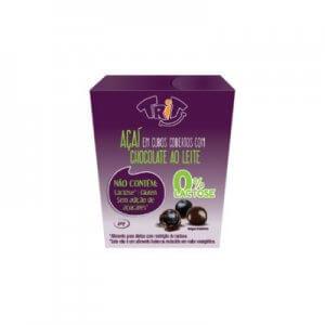 Açaí em cubos com cobertura de chocolate ao leite 0% Lactose 40g (Trit)
